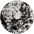 rug #1085878 | round black damask rug