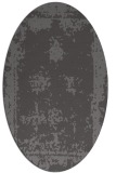 rug #1087130 | oval mid-brown rug