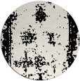 rug #1087858 | round black damask rug