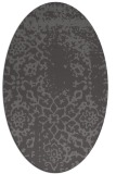 rug #1088970 | oval brown rug