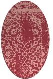 rug #1089046 | oval pink rug