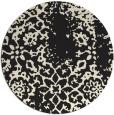 rug #1089578 | round black damask rug