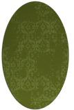 rug #1094466 | oval green rug