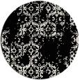 rug #1095078 | round black damask rug