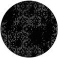 rug #1095082 | round black damask rug