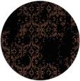 rug #1095090 | round black rug