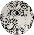 rug #1095362 | round black damask rug
