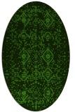 rug #1098302 | oval green rug