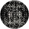 rug #1098898 | round black damask rug