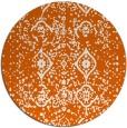 rug #1099034 | round red-orange rug