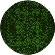 rug #1099038 | round light-green rug