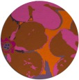 rug #109905 | round red-orange rug