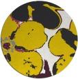 rug #109941 | round yellow rug