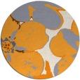 rug #109989   round light-orange rug