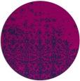 rug #1102470 | round blue rug