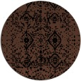 rug #1104290 | round black rug