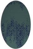 rug #1105418   oval blue rug