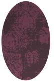 rug #1107454 | oval purple rug