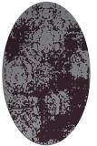 rug #1107466 | oval purple rug
