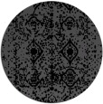 rug #1109802 | round black damask rug
