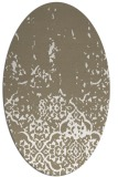 rug #1112898 | oval mid-brown rug