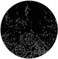 rug #1113482 | round black damask rug