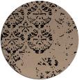 rug #1117166 | round black damask rug
