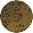 rug #1117174 | round black damask rug