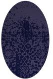 rug #1118346   oval blue-violet rug