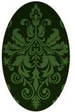 rug #1122673 | oval damask rug