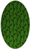 rug #1123095 | oval light-green rug