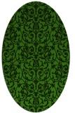 rug #1123675 | oval light-green rug
