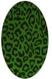 rug #1126855 | oval light-green rug