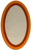 rug #112773 | oval orange rug