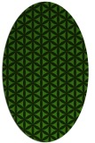 rug #1128735 | oval light-green rug
