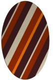 rug #1130303 | oval orange rug