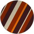 rug #1131039 | round orange rug