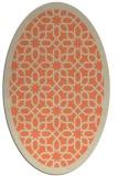 rug #1132359 | oval orange rug