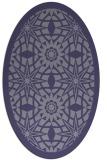 rug #1137751   oval blue-violet rug