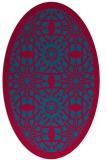 rug #1137783 | oval blue-green rug