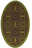 rug #1137907 | oval purple rug