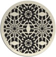 rug #1138423 | round black rug