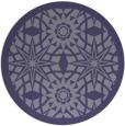 rug #1138487 | round blue-violet rug