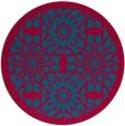 rug #1138519   round blue-green rug