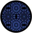 rug #1138599 | round black rug