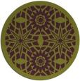 rug #1138643   round purple rug