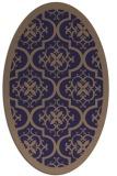 rug #1139607 | oval blue-violet rug