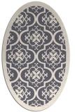 rug #1139869 | oval damask rug