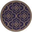 rug #1140343 | round blue-violet rug