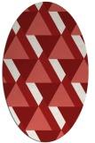 rug #1143447 | oval red rug